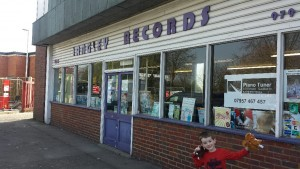 Langley Records (And very young visitor)