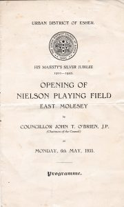 Programme for 1935 opening